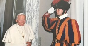 St. John Paul II and Swiss Guard